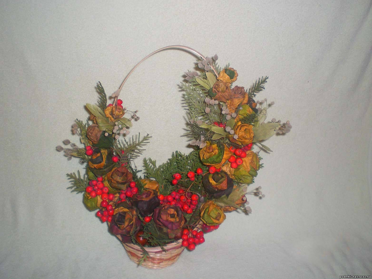 Поделки на тему осень корзинка с цветами