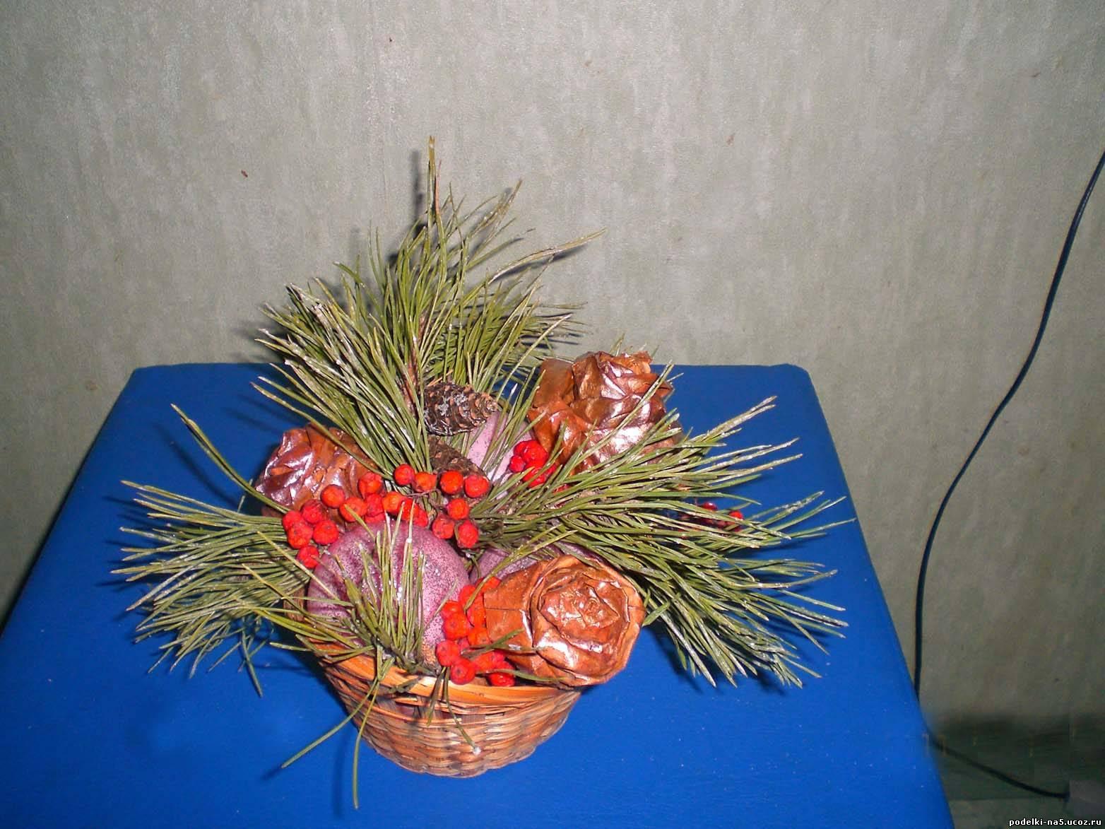 Как сделать зимнюю икебану