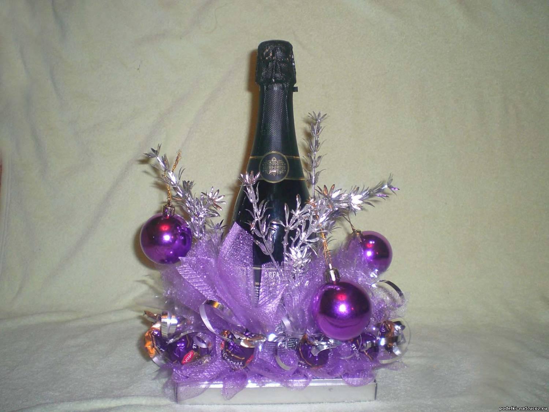 Поделка из шампанское и конфеты своими руками
